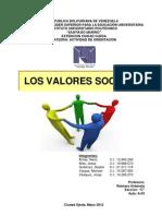 Trabajo Exposicion Unidad IV Valores Sociales