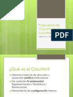 Propuesta de Claustro Facultad de Ciencias Sociales