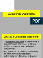 Introduction to Forensic Science Questioned Documents