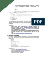 3 principales referente de Normas y Reglas Ortográficas de la Lengua Española para facilitar su aprendizaje y su aplicación