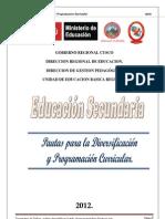 Guia de diversificacion y programación curricular 2012 final SECUNDARIA