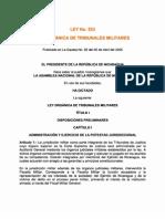 Ley No. 523 - Ley Organica de Tribunales Militares - PDF