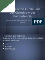 Comparacon Curriculo Objetivo y Competencia