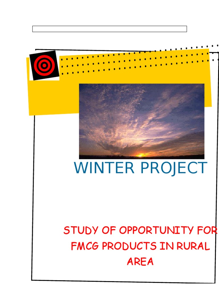project report on rural marketing strategies of fmcg products A comparative study of marketing strategies of fmcg manufacturing in done with respect to product  a comparative study of marketing strategies of fmcg.