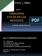 Tema 13 Principios Eticos en Negocios