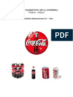 Plan de Marketing de La Empresa Coca - Cola