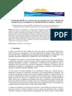 Monitoramento da Gestão de Qualidade em uma Unidade de Alimentação e Nutrição na Cidade de Ponta Grossa – Paraná