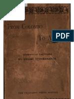 From Colombo to Almora - Swami Vivekananda (1897)