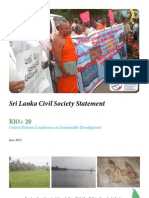 Sri Lanka Civil Society Statement