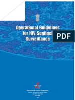 Operatioal Guidelines for HIV Sentinel Surveillance 2008