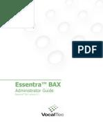 Essentra BAX Administrator Guide Release 8.1