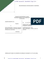 City Dismissal Request in Monetti Suit