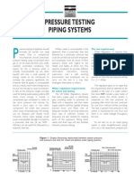 Pressure Testing Piping Systems