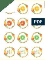 Fun in Sun Cupcake Circles