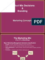 Product Mix Decisions and Branding