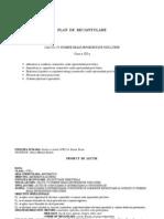 Proiect de Lectie Clasa a VIII a Sc.21