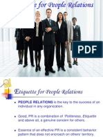 Etiquette for People Relations