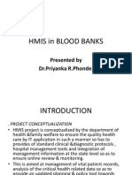 Hmis in Blood Banks