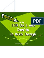 100 Do's and Don'ts