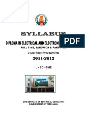 Eee Syllabus | Series And Parallel Circuits | Electrical