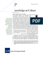 Knowledge as Culture