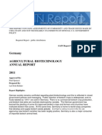 Agricultural Biotechnology Annual Report Germany