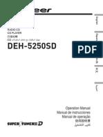Operating Manual (Deh-5250sd) - Eng - Esp - Por