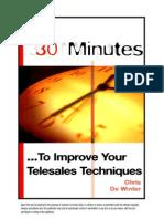 30 Minutes to Improve Telesales Techniques