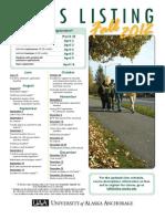 UAA 2012 Fall Class Listing