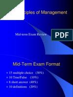 Principles Management Mid Exam Review