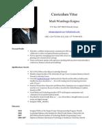 Mark Kaigwa Personal Profile Resume 2012