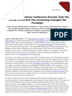 Conferência Your Office Anywhere revela que arrendamento de escritórios mudou de paradigma_EN