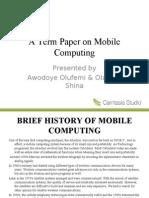 Mobile Computing Slides