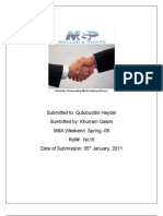 report on M&P