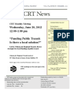 CRT Newsletter