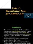 QualitativeTests for Amino Acids