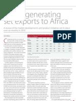 Diesel Genset Exports to Africa 2010