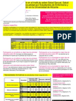 Formación recibida en el instituto sobre Salud Sexual, Salud Reproductiva y Sexualidad por Estudiantes de Enfermería y Educación en la Universidad de Alicante
