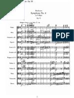 Beethoven Symphony No. 8 Score