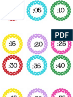 CIRCLE POLKA DOT Numbers by 5 for Clock