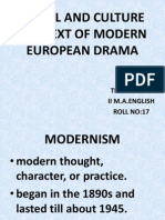 Social and Culture Context of Modern European Drama - Copy