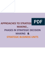 Approaches to Strategic Decision Making , Phases In