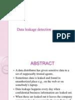 Data Leakage Detection