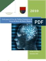 GUÍA PARA EL USO DE TABLAS DINÁMICAS - 20101118