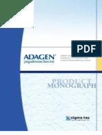 Adagen Monograph