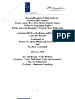Foster McCollum White & Associates & Baydoun Consulting Michigan Poll (June 2012)