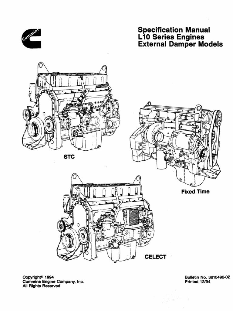 3810498 specifications manual l10 series engines external damper rh scribd com cummins m11 service manual cummins m11 service manual free download