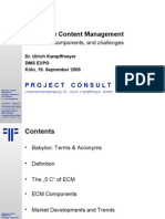 [EN] ECM Enterprise Content Management | DMSEXPO | 2006 | Ulrich Kampffmeyer