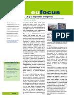 La UE y la seguridad energética(Es)/ EU and energetic security(Spanish)/ EB eta segurtasun energetikoa(Es)