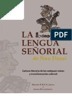 La lengua señorial de Ñuu Dzaui